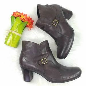 Clarks Artisan Brown Leather Ankle Boots Womens 12